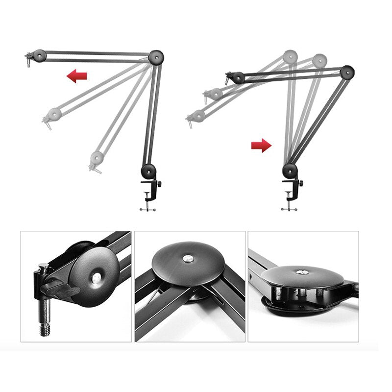 Adjustable Arm Stand New Design Suspension Scissor Microphone Mic Stand without Springs for Blue Yetis Studio Microphone