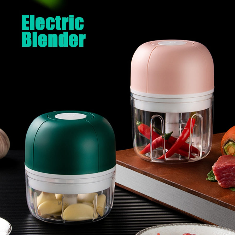 Electric Mixer Chopper Blender Garlic Masher Press Wireless Electric Mincer Vegetable Chili Meat Grinder Food Crusher Chopper