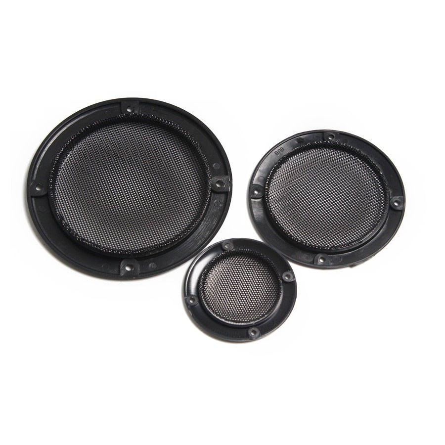 Replacement 2X 2 inch 3 inch 4 inch Black Round Speaker Protective Mesh Net Cover Grille Circle Speaker Accessories