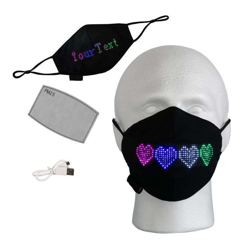 LED Programmable Digital Display Mask