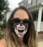 ICY SKULL FACE MASK | FUNNY FACE MASK COVER | SKULL FACE MASK | WASHABLE FACE MASK