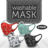 Women's 4 Pack of Soft Comfortable Masks