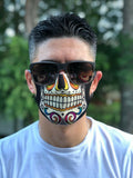 CALAVERA  Sugar Skull Day of Dead FACE MASK