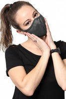 Charcoal Gray Double Layer Cotton Face Mask