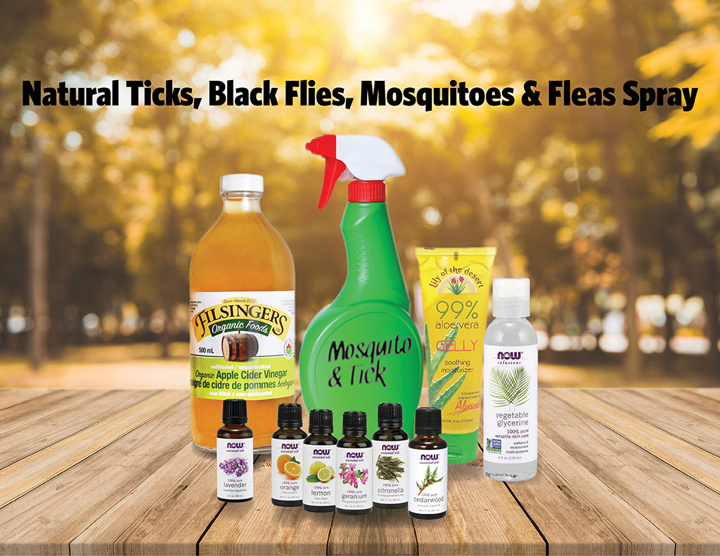 Natural Ticks, Black Flies, Mosquitoes & Fleas Spray