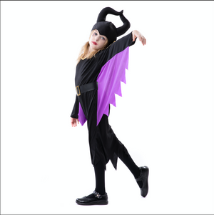 RJ Legend Evil Witch Cosplay - Halloween Devil Horns Costume - Fun Cosplay Devil Costume for Kids