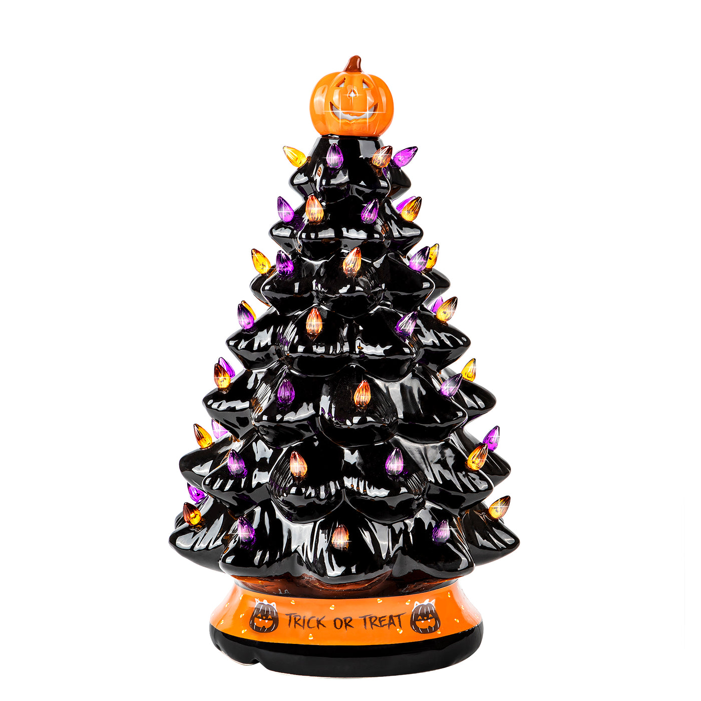Rj Legend 15 Inch Ceramic Halloween Tree Decoration For Indoor Out