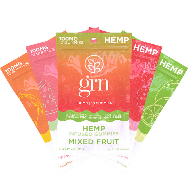 Full Spectrum Hemp Extract Gummies 5-Pack Bundle