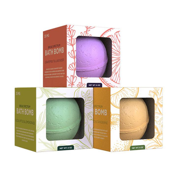 Hemp Bath Bomb Assorted 3-Pack