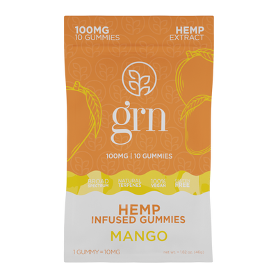 Full Spectrum Hemp Extract Gummies - Mango