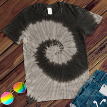 Load image into Gallery viewer, Black Rainbow Hand Dyed Tee T-Shirt Colortone Adult - M