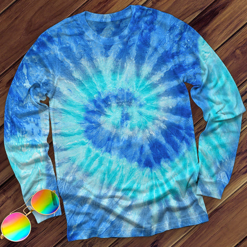 Blue Jerry Hand Dyed Long Sleeve Long Sleeve Colortone M