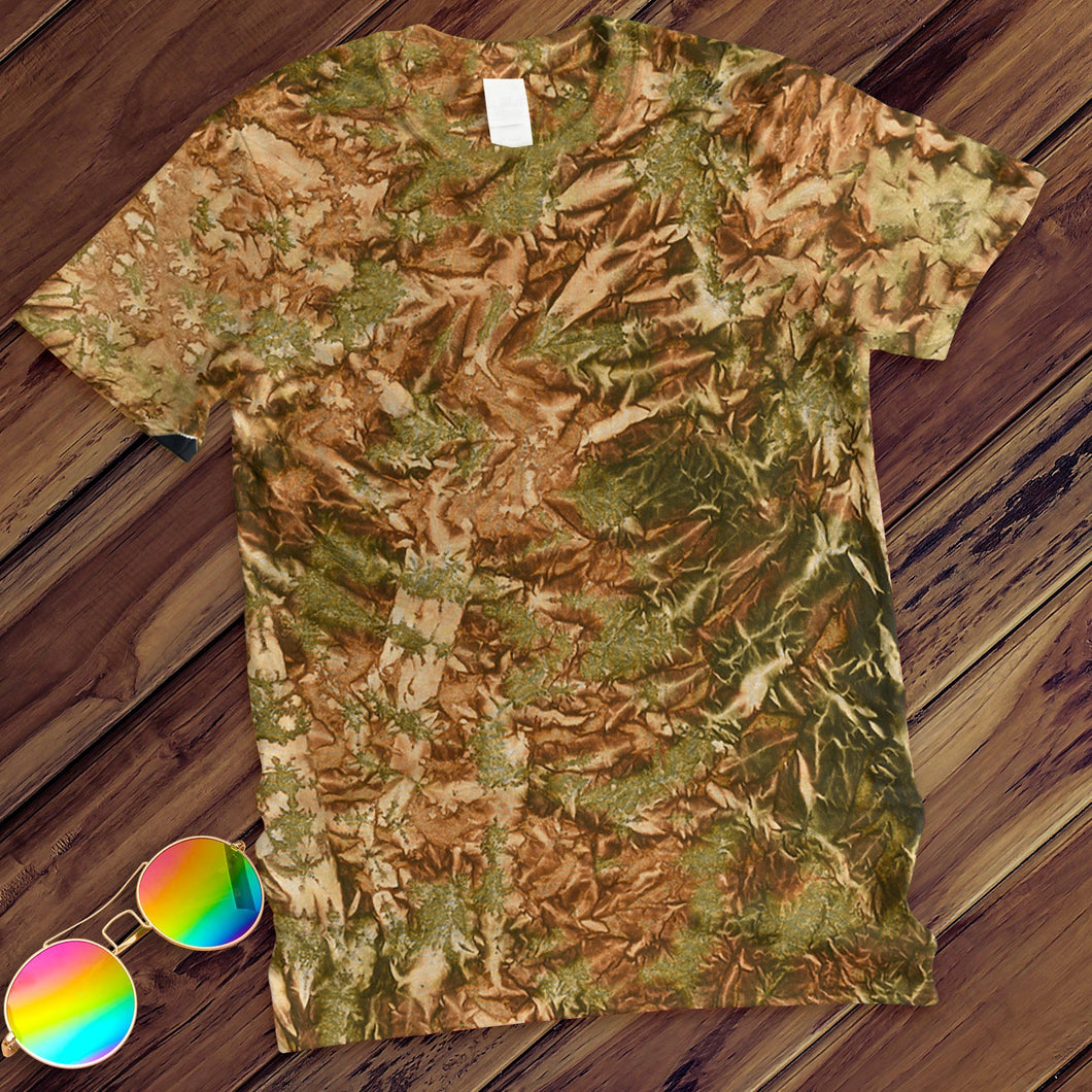 Camo Hand Dyed Tee T-Shirt Colortone Adult - M