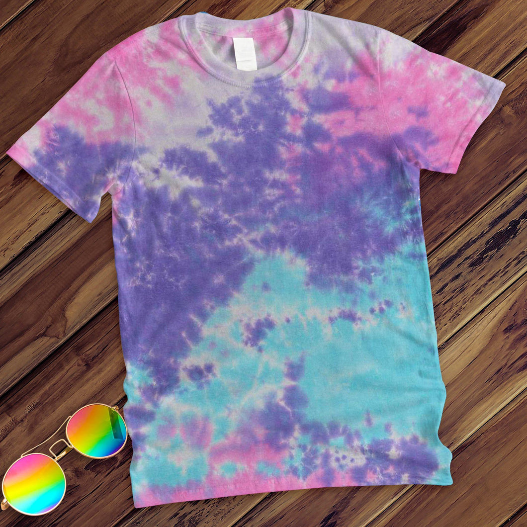 Cotton Candy Hand Dyed Tee T-Shirt Colortone M