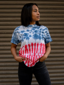Flag Hand Dyed Tee T-Shirt Print Your Cause