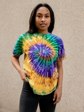 Load image into Gallery viewer, Mardi Gras Hand Dyed Tee T-Shirt Print Your Cause