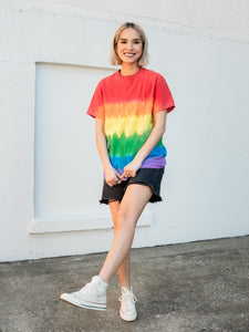 Pride Hand Dyed Tee T-Shirt Print Your Cause