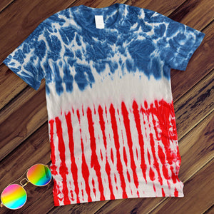 Flag Hand Dyed Tee T-Shirt Colortone Adult - M