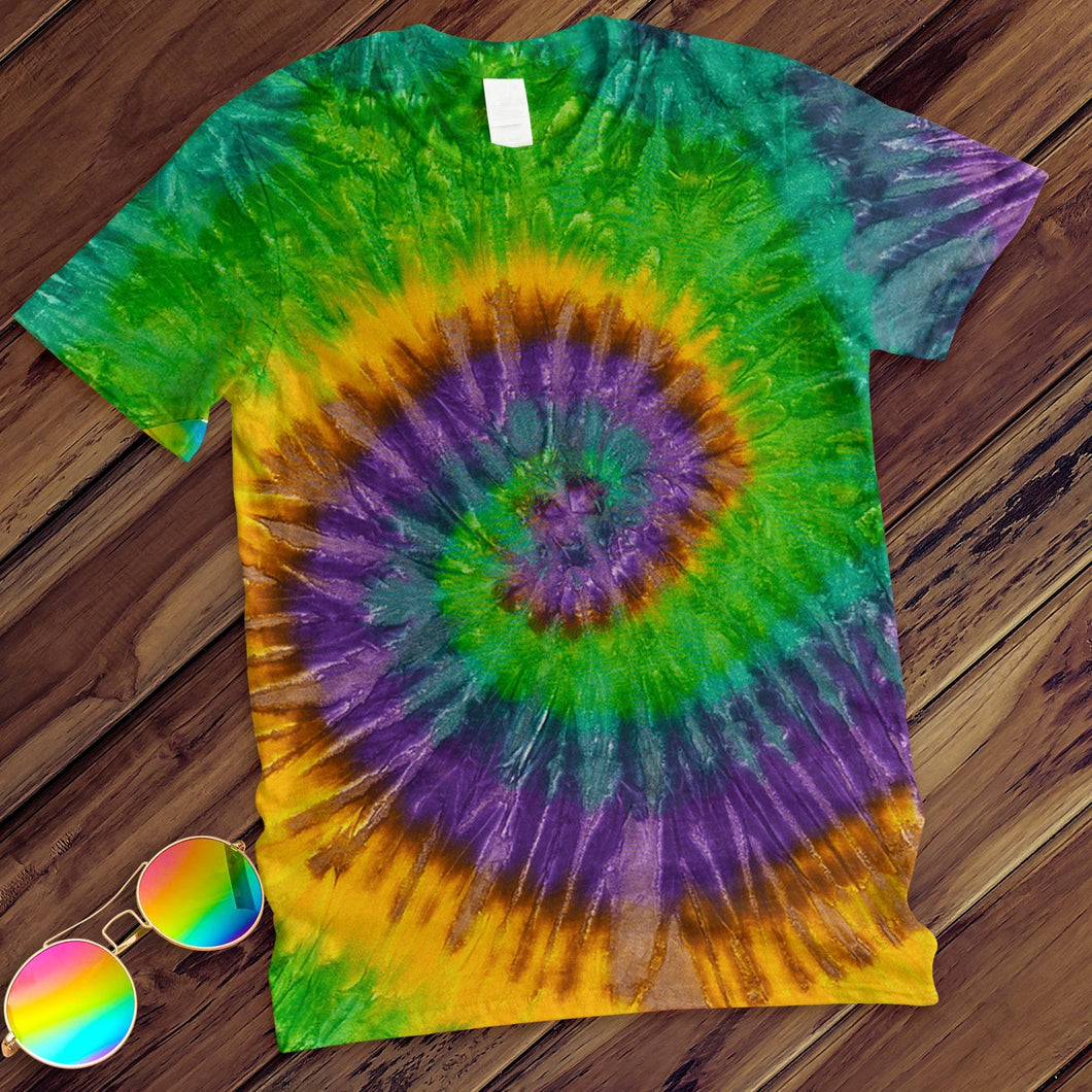Mardi Gras Hand Dyed Tee T-Shirt Colortone Adult - M