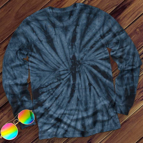 Spider Navy Hand Dyed Long Sleeve Long Sleeve Colortone Navy M