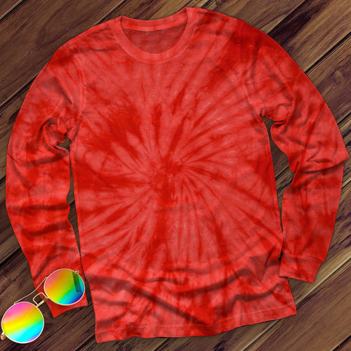 Spider Red Hand Dyed Long Sleeve Long Sleeve Colortone Red M