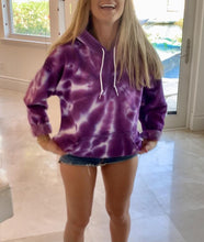 Load image into Gallery viewer, Purple Hand Dyed Hoodie Hoodie Print Your Cause