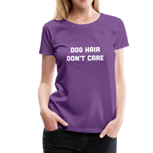 Load image into Gallery viewer, Women's Premium T-Shirt - Dog Hair Don't Care - purple