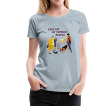 Load image into Gallery viewer, Women's Premium T-Shirt - Dogs Are My Favorite People - heather ice blue