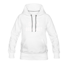 Load image into Gallery viewer, Women's Premium Hoodie - Can My Dog Come - white