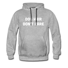 Load image into Gallery viewer, Men's Premium Hoodie - Dog Hair Don't Care - heather gray