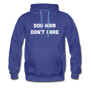 Men's Premium Hoodie - Dog Hair Don't Care - royalblue