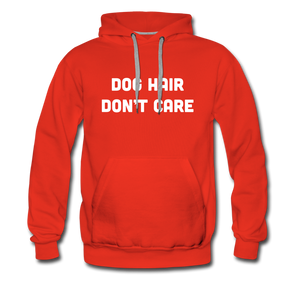 Men's Premium Hoodie - Dog Hair Don't Care - red