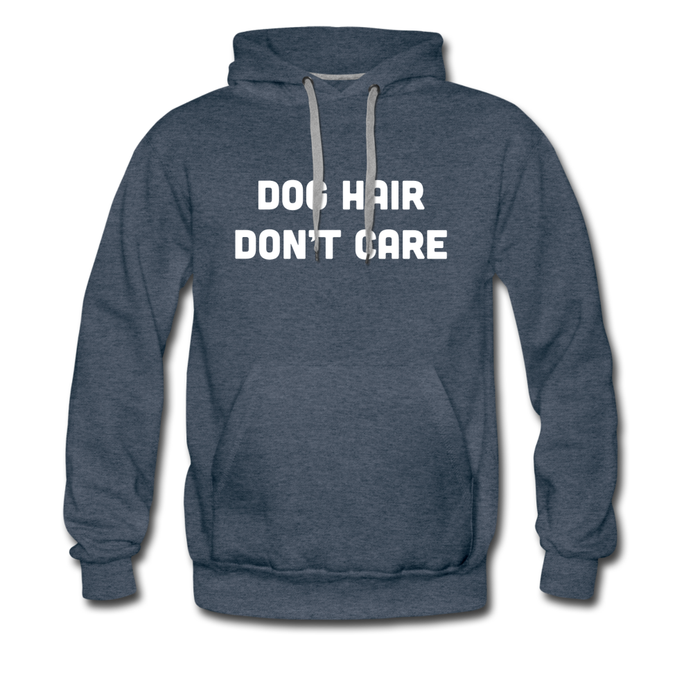 Men's Premium Hoodie - Dog Hair Don't Care - heather denim