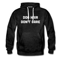 Load image into Gallery viewer, Men's Premium Hoodie - Dog Hair Don't Care - charcoal gray