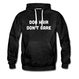 Men's Premium Hoodie - Dog Hair Don't Care - charcoal gray