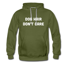 Load image into Gallery viewer, Men's Premium Hoodie - Dog Hair Don't Care - olive green