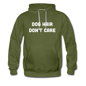 Men's Premium Hoodie - Dog Hair Don't Care - olive green