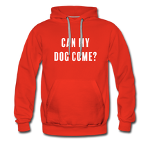 Load image into Gallery viewer, Unisex Premium Hoodie - Can My Dog Come - red
