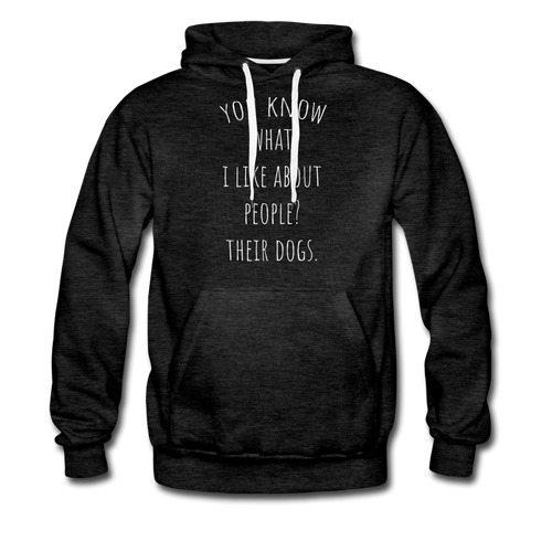 Unisex Premium Hoodie - You Know What I Like... - charcoal gray