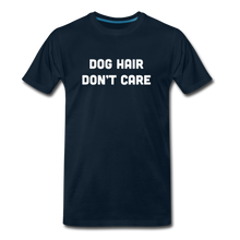 Load image into Gallery viewer, Premium T-Shirt - Dog Hair Don't Care - deep navy