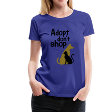 Load image into Gallery viewer, Women's Premium T-Shirt - Adopt Don't Shop - royal blue