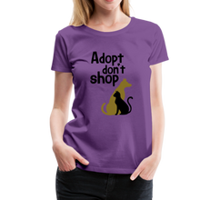 Load image into Gallery viewer, Women's Premium T-Shirt - Adopt Don't Shop - purple