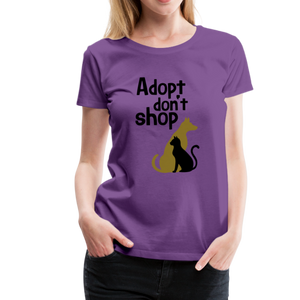 Women's Premium T-Shirt - Adopt Don't Shop - purple