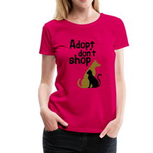 Load image into Gallery viewer, Women's Premium T-Shirt - Adopt Don't Shop - dark pink