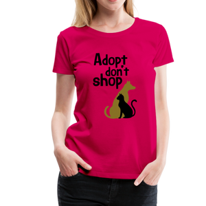 Women's Premium T-Shirt - Adopt Don't Shop - dark pink