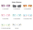 Retro small rectangle sunglasses