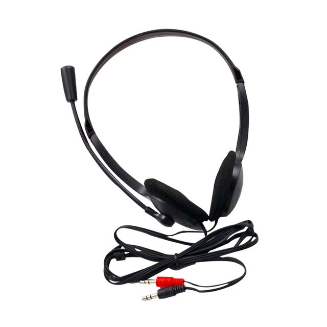 3.5mm Wired Stereo Earphone With Microphone Headset Noise Cancelling  Computer Laptop Headphone 2 Interfaces