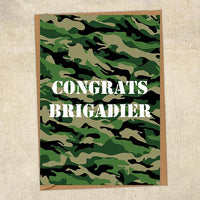 Congrats Brigadier Army Congratulations Greetings Card UK Military Card