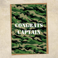 Congrats Captain Army Congratulations Greetings Card UK Military Card