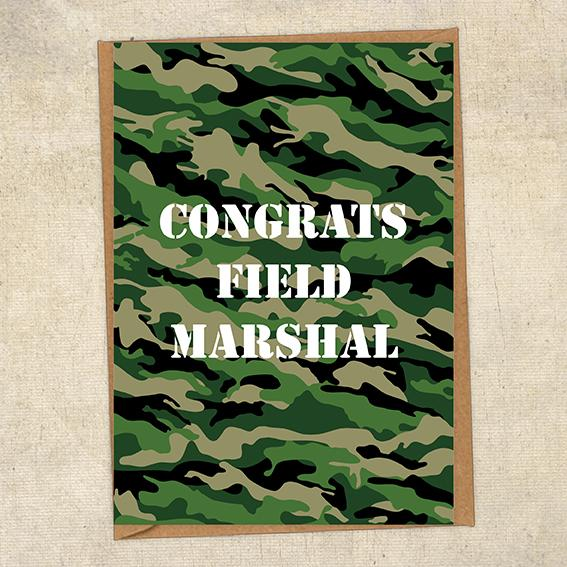 Congrats Field Marshal Army Congratulations Greetings Card UK Military Card